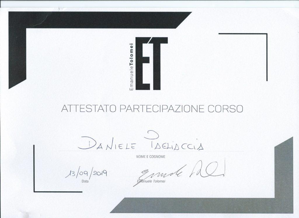 Certificazione studente Emanuele Tolomei